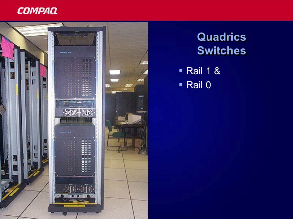 Quadrics Switches  Rail 1 &  Rail 0