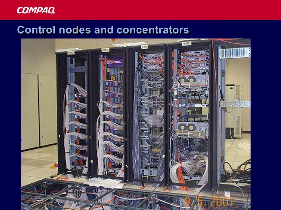 Control nodes and concentrators