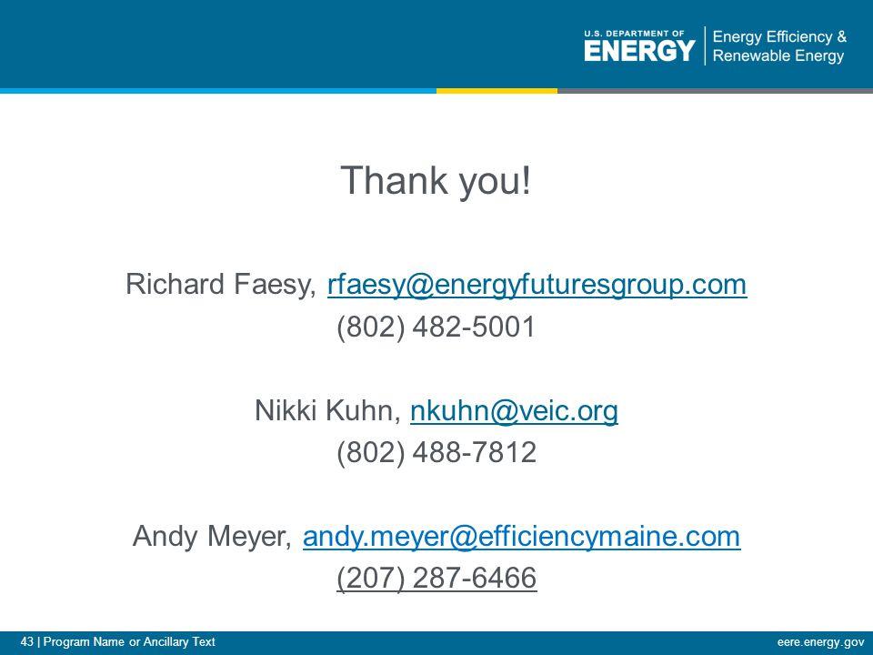 43 | Program Name or Ancillary Texteere.energy.gov Thank you.