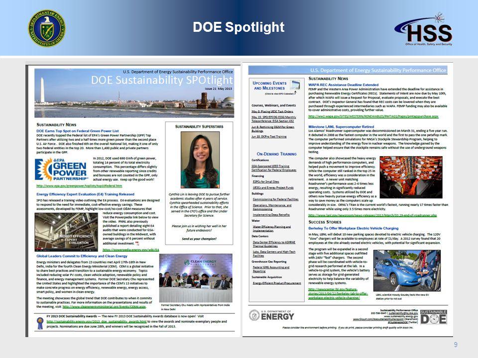 DOE Spotlight 9