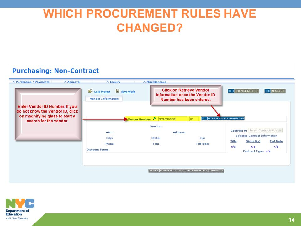 14 WHICH PROCUREMENT RULES HAVE CHANGED?