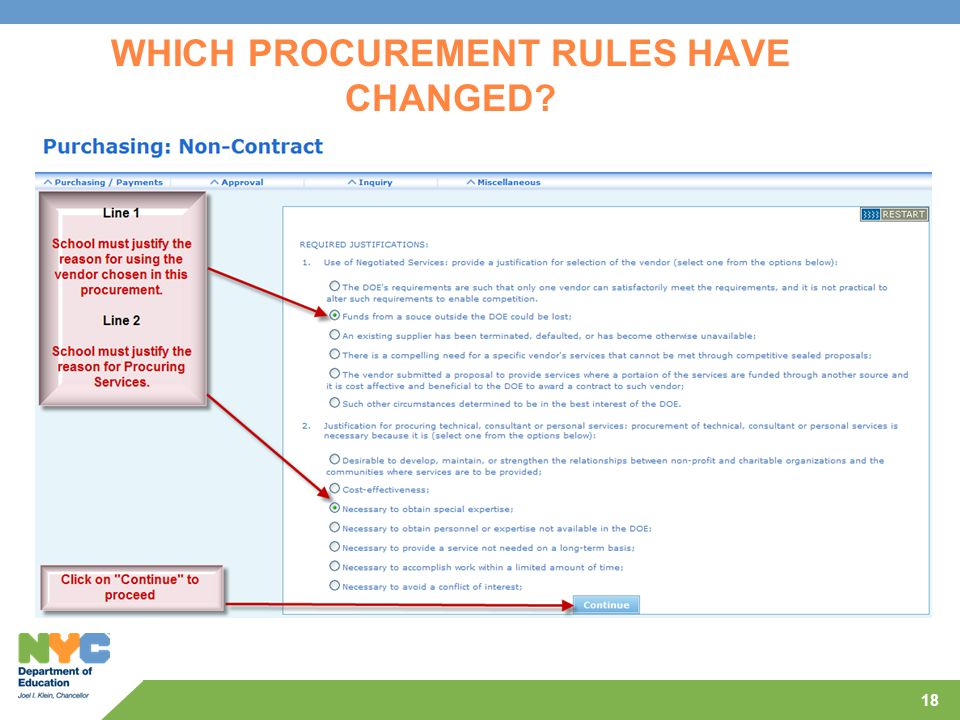 18 WHICH PROCUREMENT RULES HAVE CHANGED?