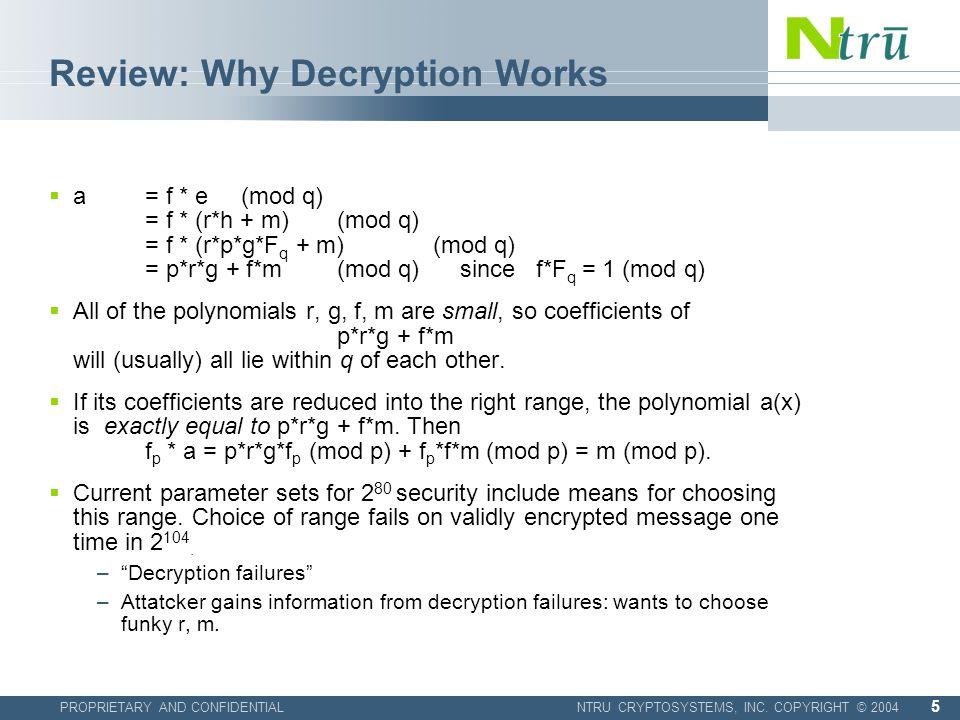 PROPRIETARY AND CONFIDENTIALNTRU CRYPTOSYSTEMS, INC.