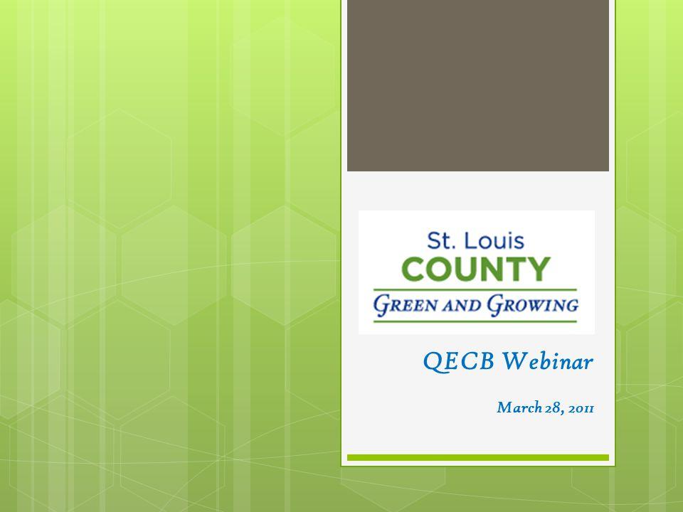 QECB Webinar March 28, 2011
