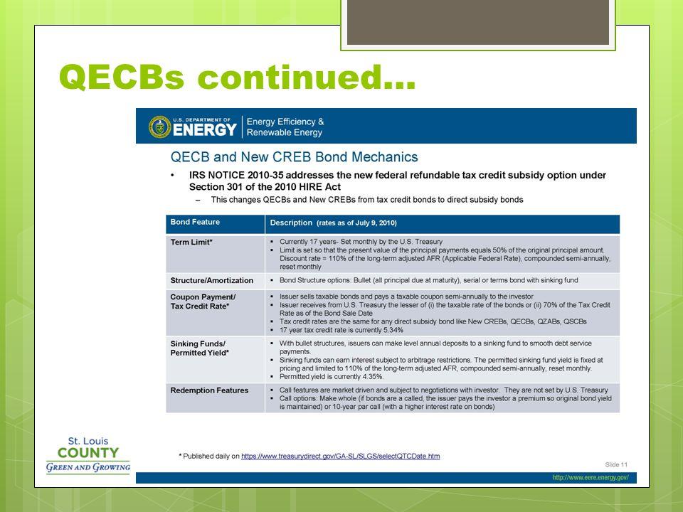 QECBs continued…