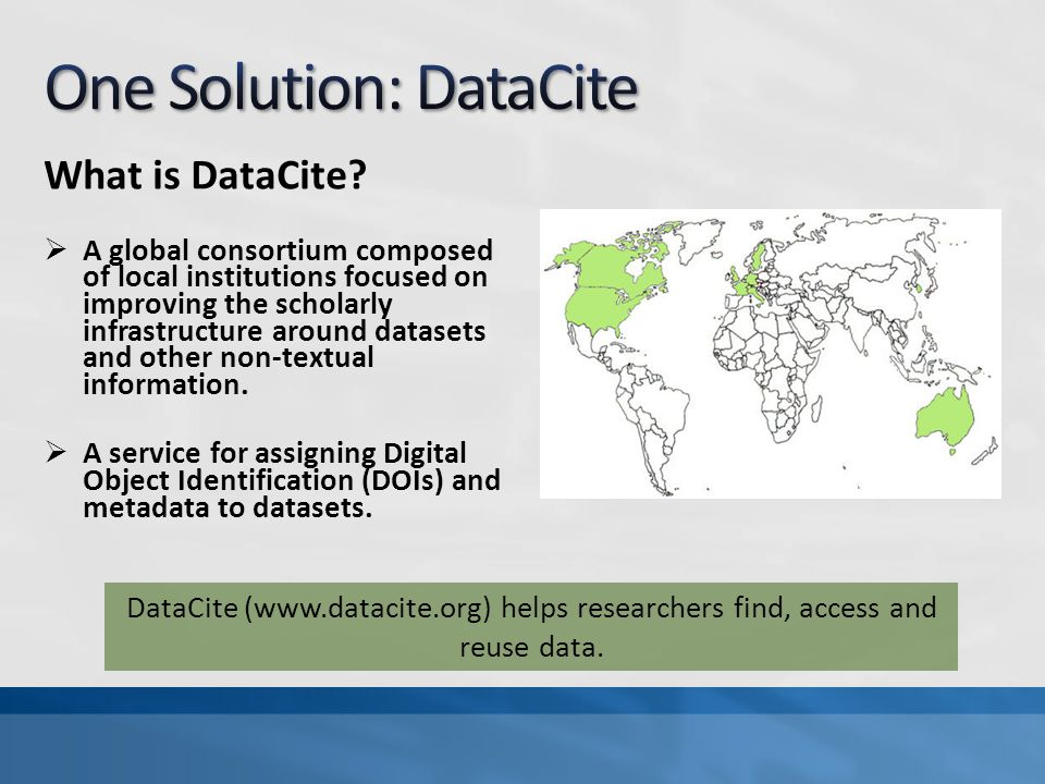 What is DataCite.
