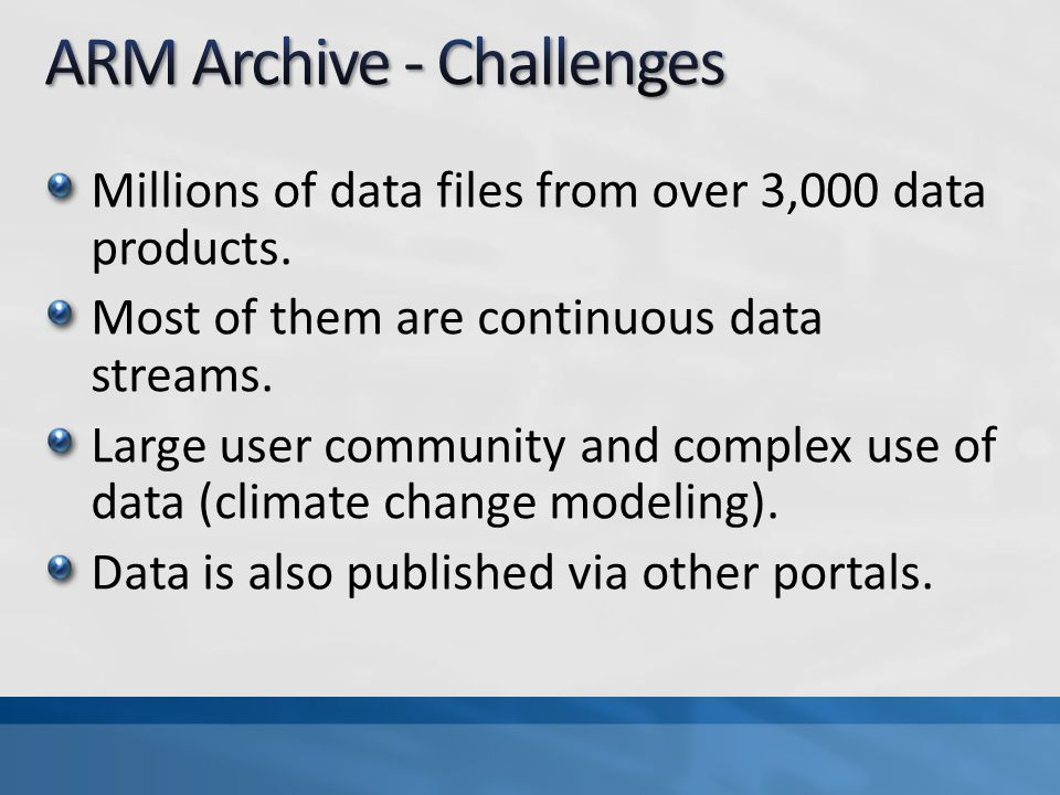Millions of data files from over 3,000 data products.