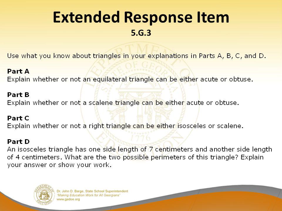 Extended Response Item 5.G.3