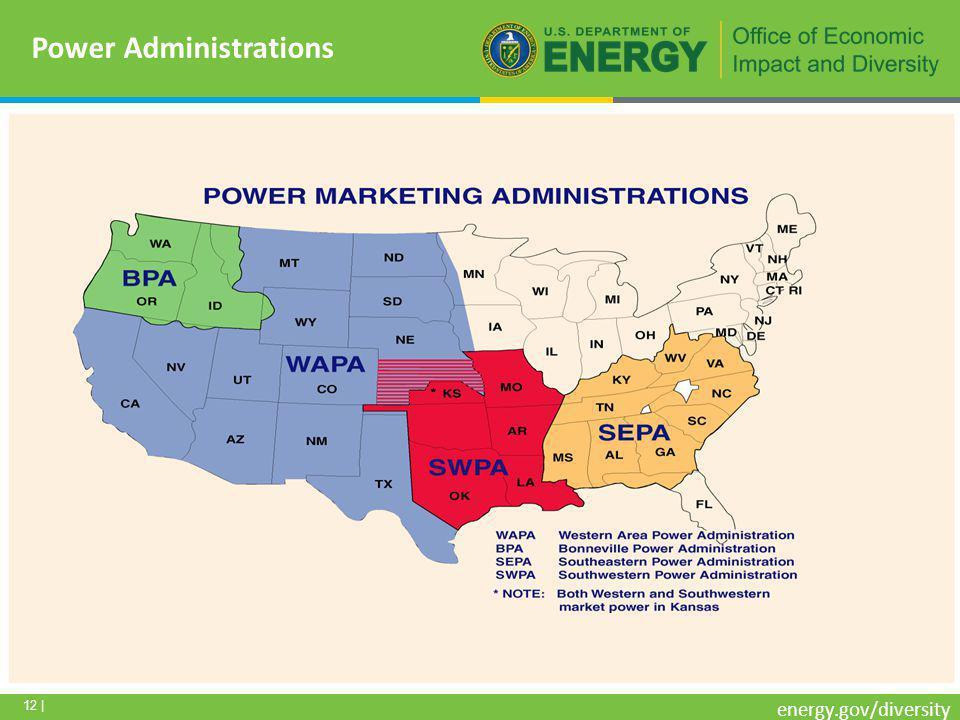12 | energy.gov/diversity Power Administrations