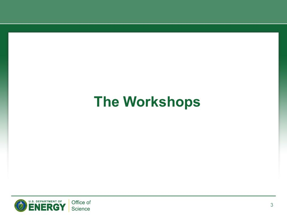 The Office of Science has co-sponsored 4 equity workshops.