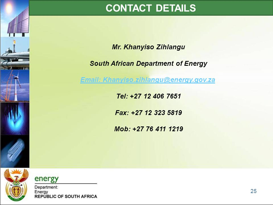 CONTACT DETAILS Mr.