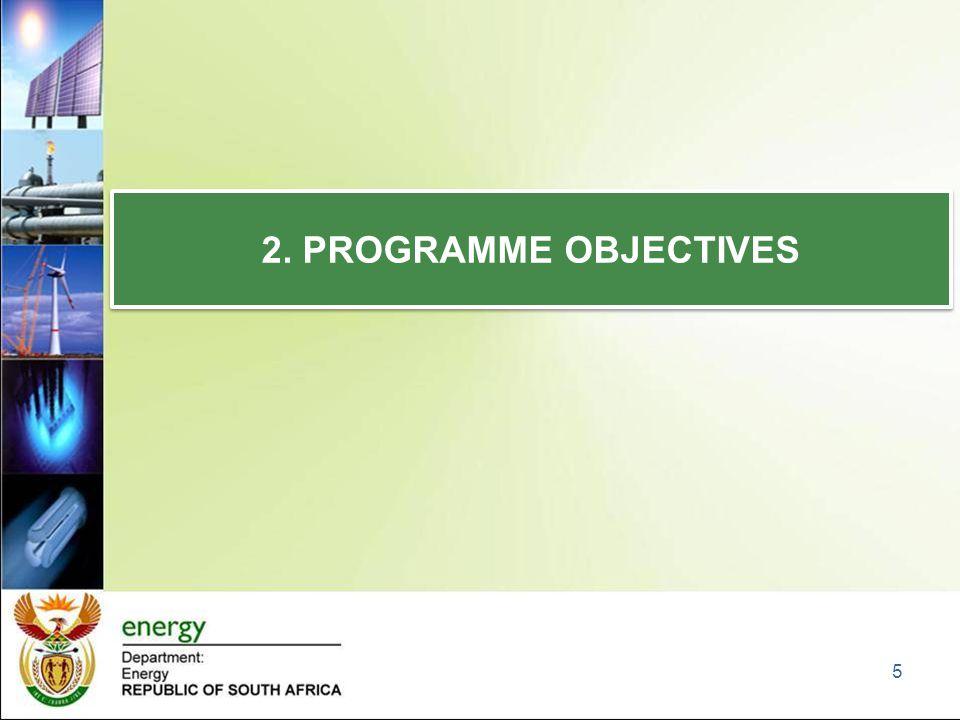 2. PROGRAMME OBJECTIVES 5