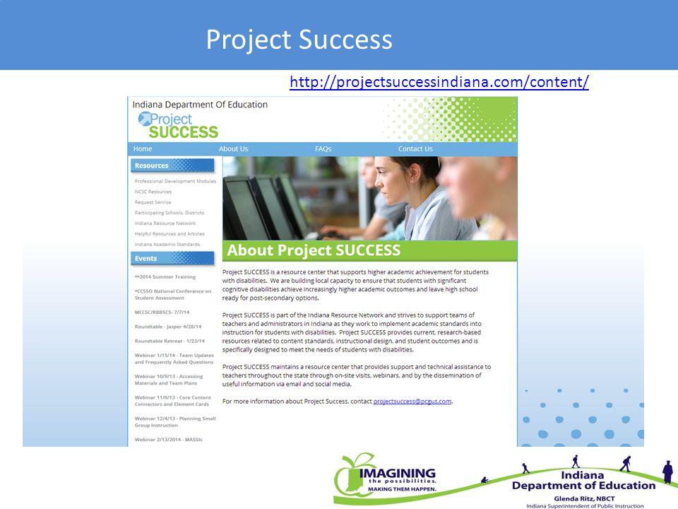 Project Success http://projectsuccessindiana.com/content/
