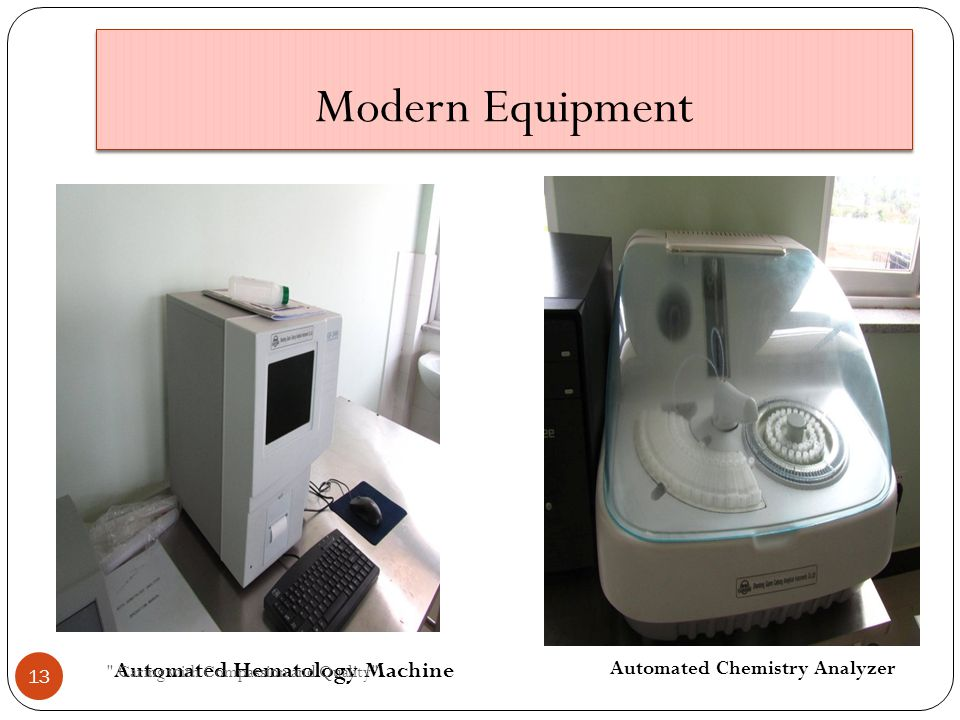 Modern Equipment Automated Chemistry Analyzer Automated Hematology Machine Caring with Compassion and Quality 13