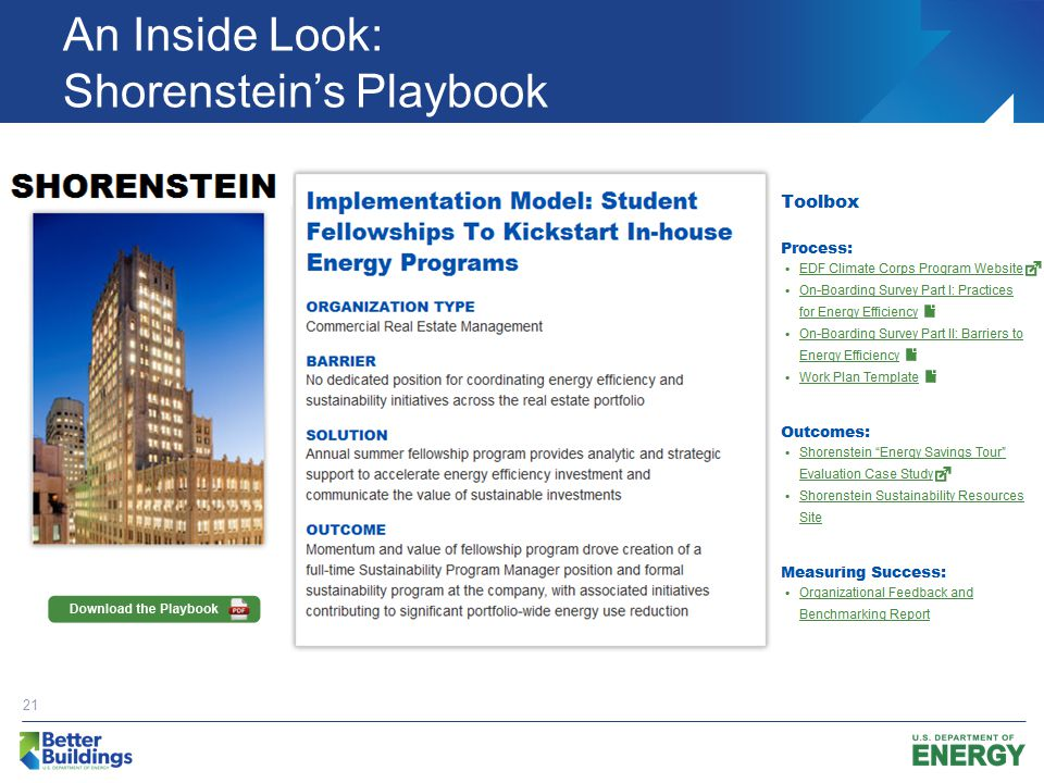 An Inside Look: Shorenstein's Playbook 21