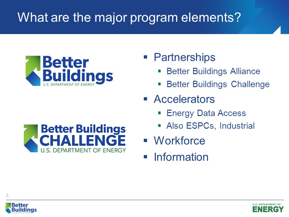 Better Buildings Alliance Through the Better Buildings Alliance, members in different market sectors identify specific barriers and work with the U.S.