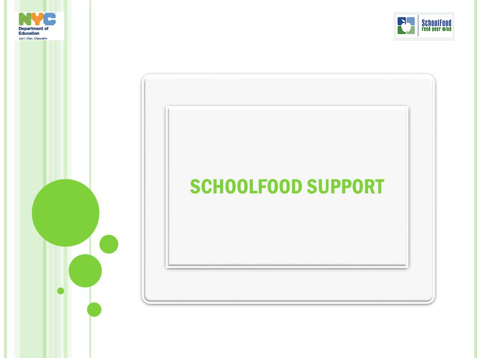 SCHOOLFOOD SUPPORT