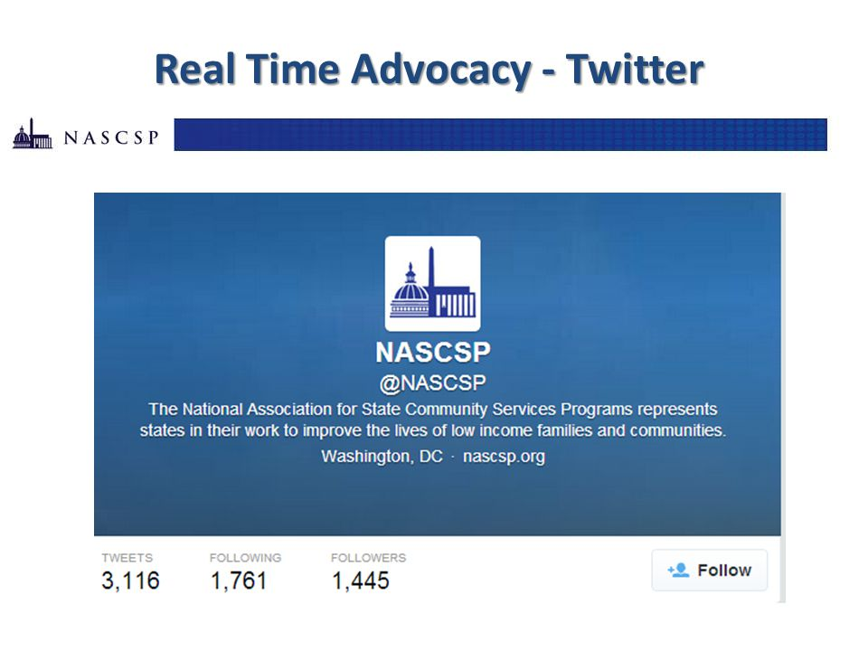 24 Real Time Advocacy - Twitter