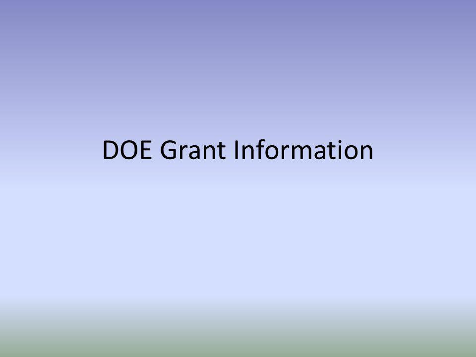 DOE Grant Information