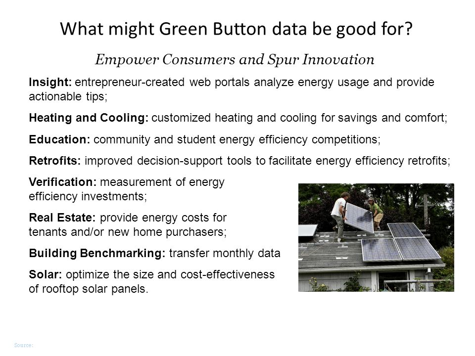 Source: What might Green Button data be good for? Insight: entrepreneur-created web portals analyze energy usage and provide actionable tips; Heating