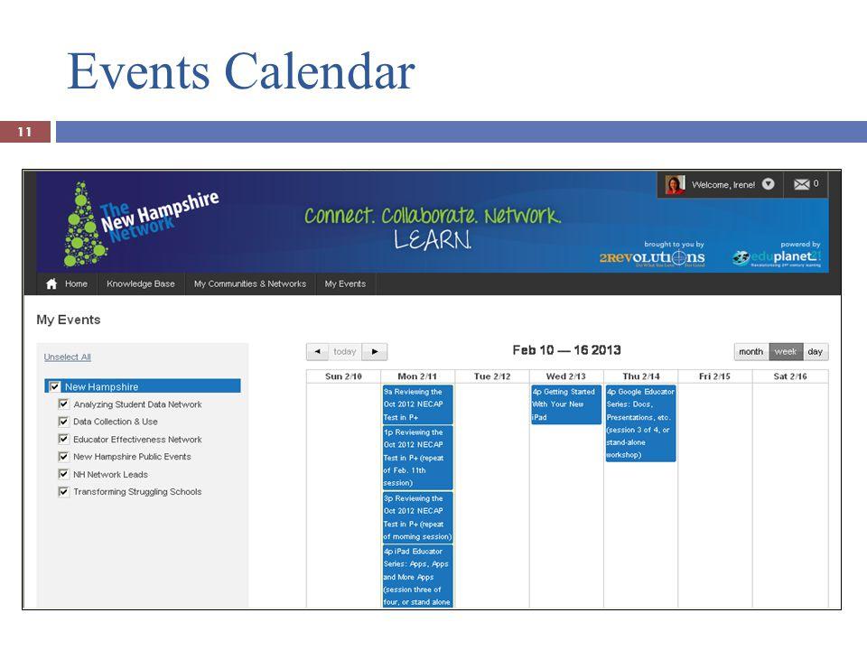 Events Calendar 11