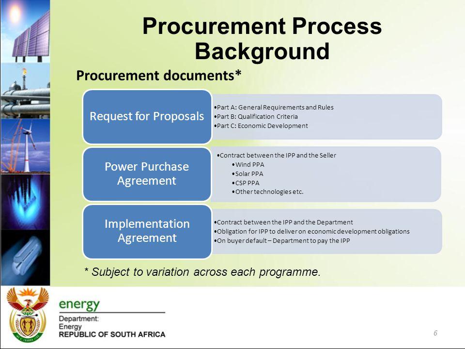 Procurement documents* Part A: General Requirements and Rules Part B: Qualification Criteria Part C: Economic Development Request for Proposals Contra