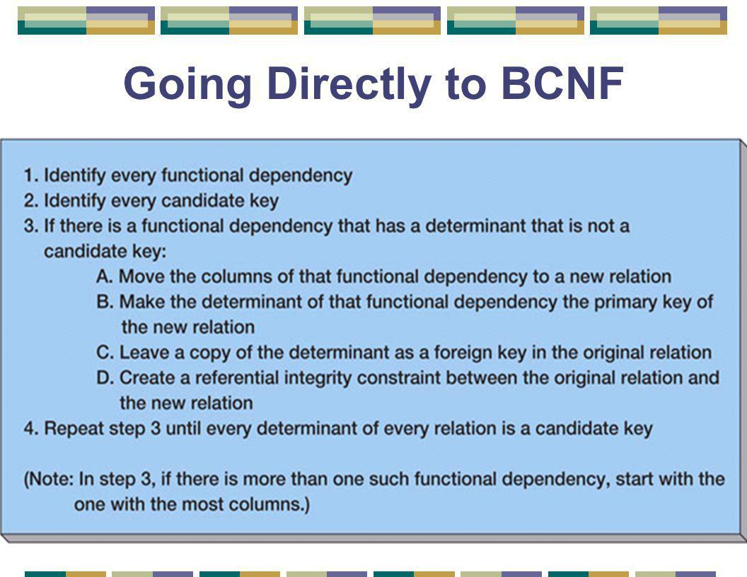 Going Directly to BCNF