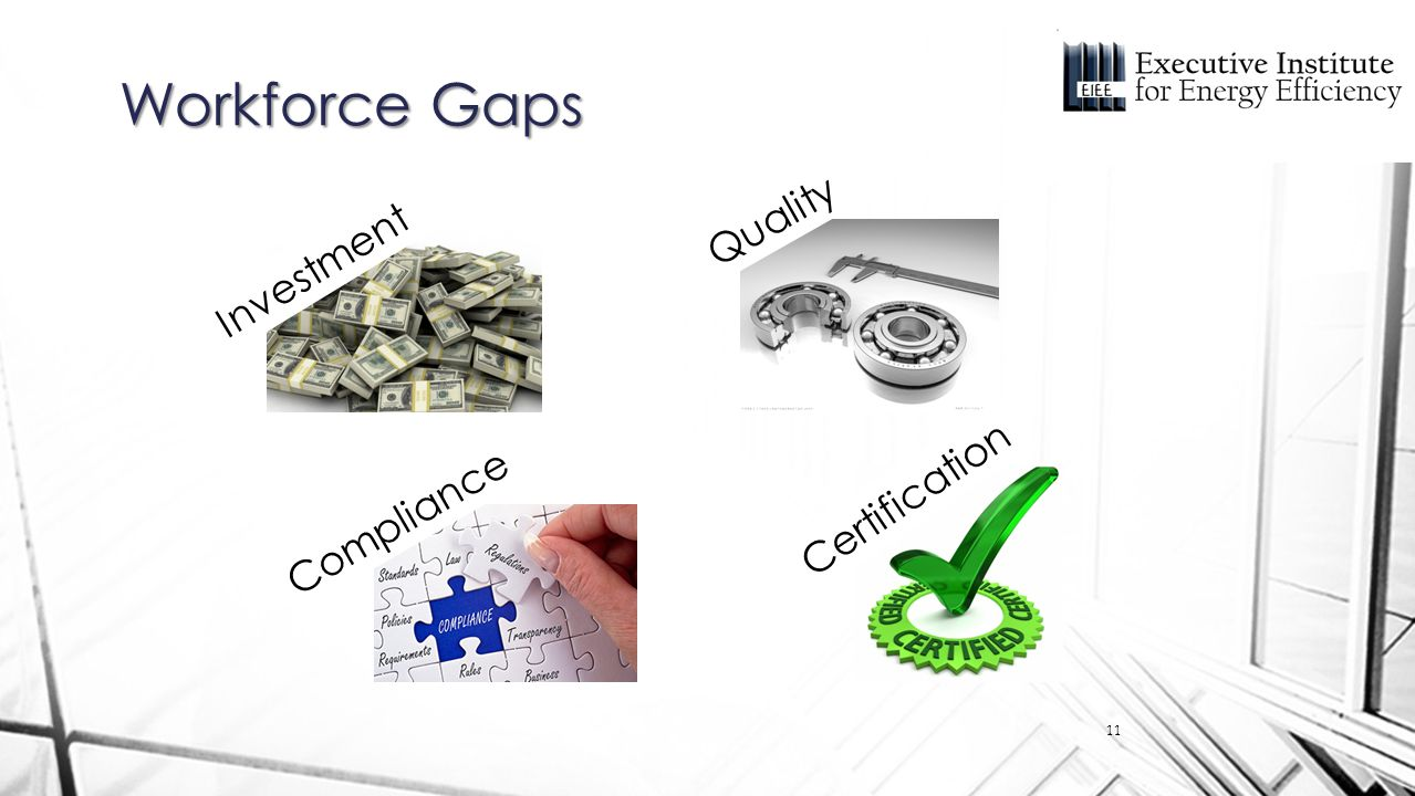 Workforce Gaps Investment Quality Compliance Certification 11