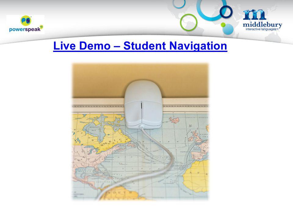 Live Demo – Student Navigation