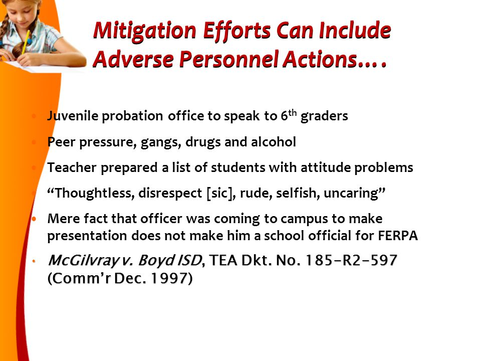Mitigation Efforts Can Include Adverse Personnel Actions….