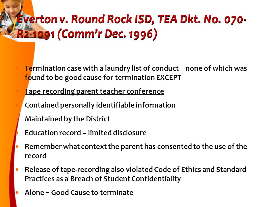 Everton v.Round Rock ISD, TEA Dkt. No. 070- R2-1091 (Comm'r Dec.