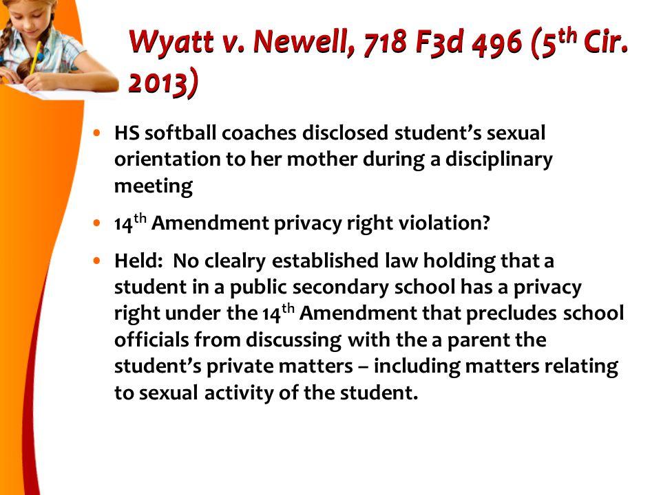 Wyatt v.Newell, 718 F3d 496 (5 th Cir.