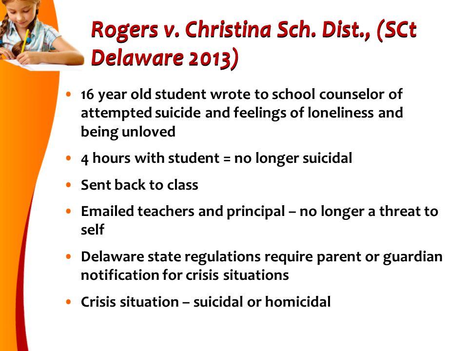 Rogers v.Christina Sch.