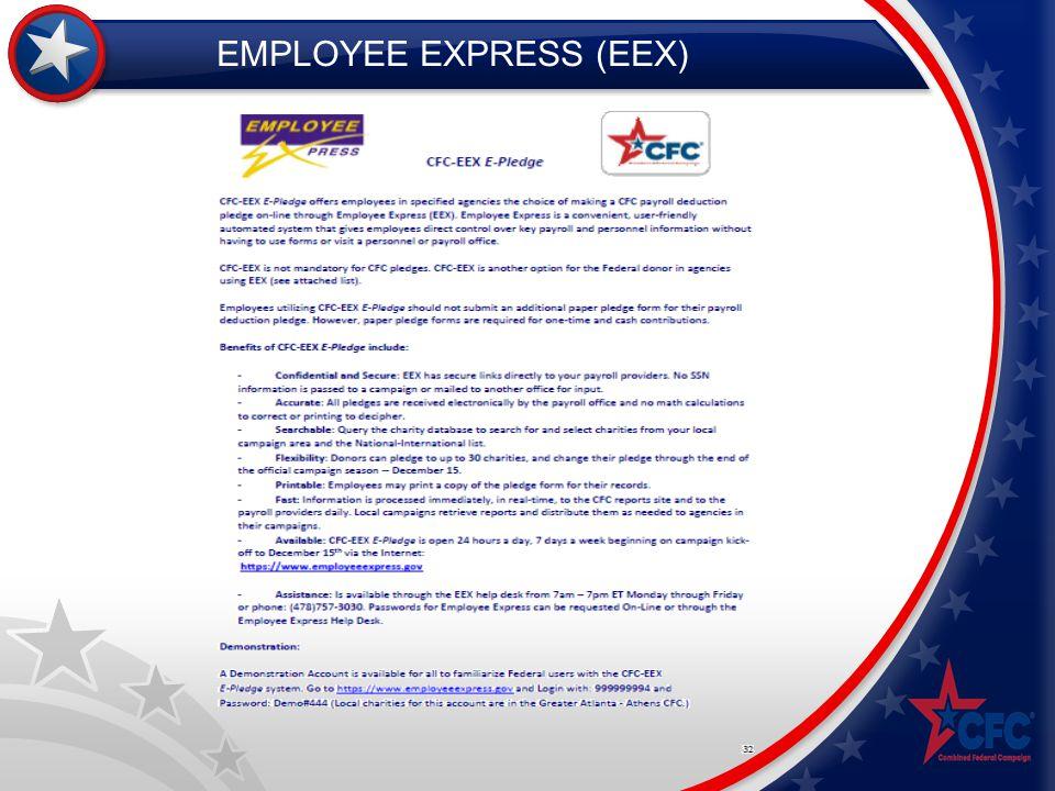 EMPLOYEE EXPRESS (EEX)