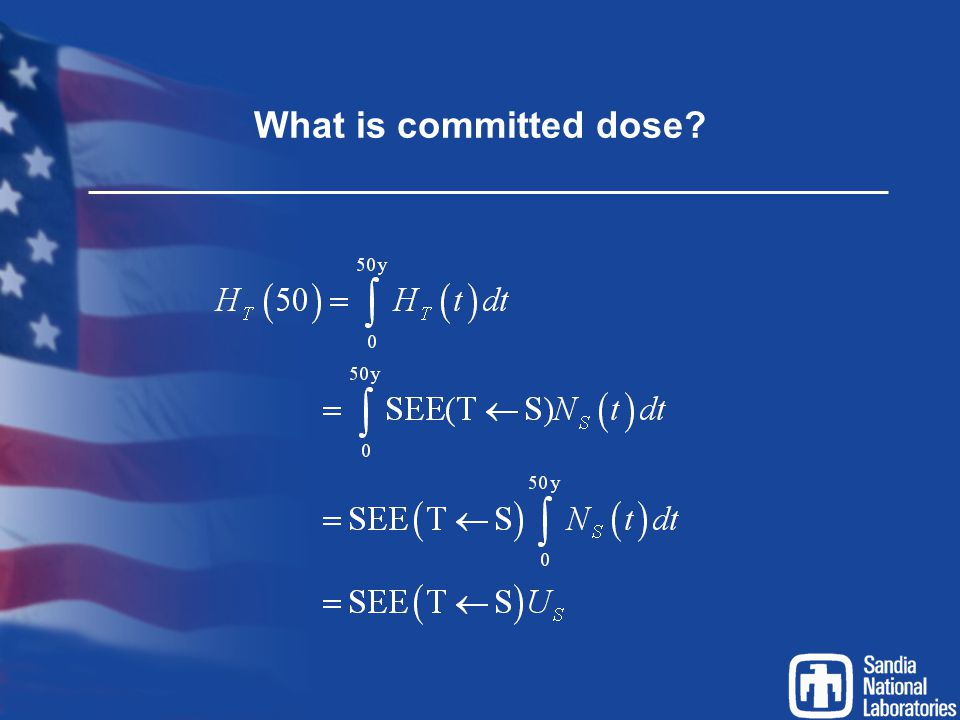 What is committed dose?