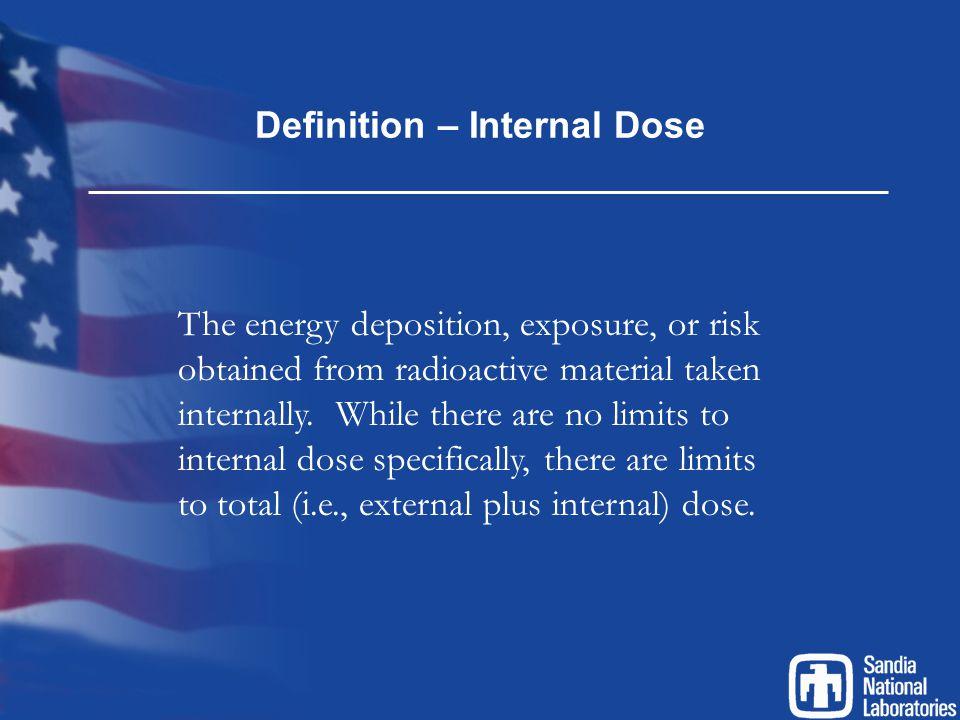 Indicators of Intake Positive nasal smear or contamination inside a respirator mask.