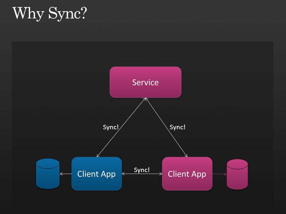 Service Sync! Client App Sync!