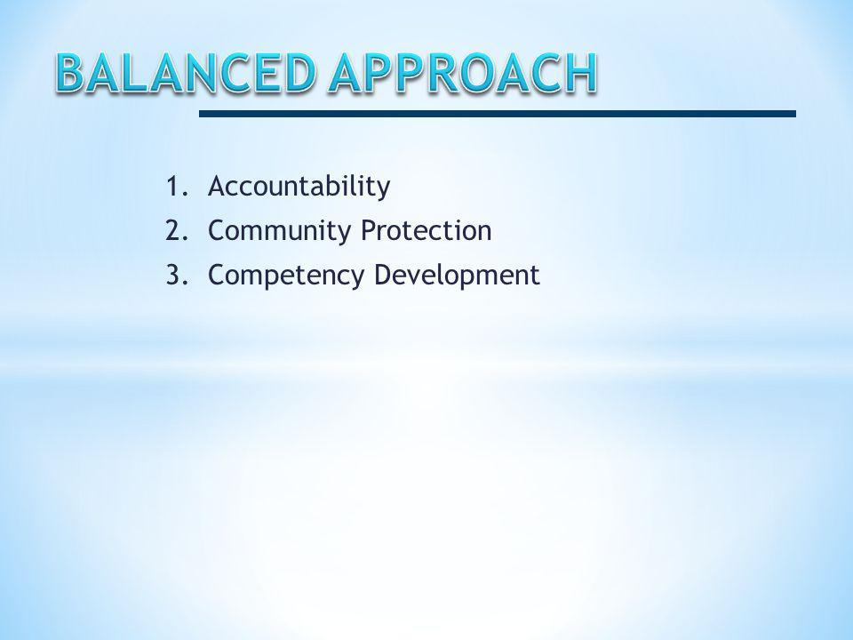 1.Accountability 2.Community Protection 3.Competency Development