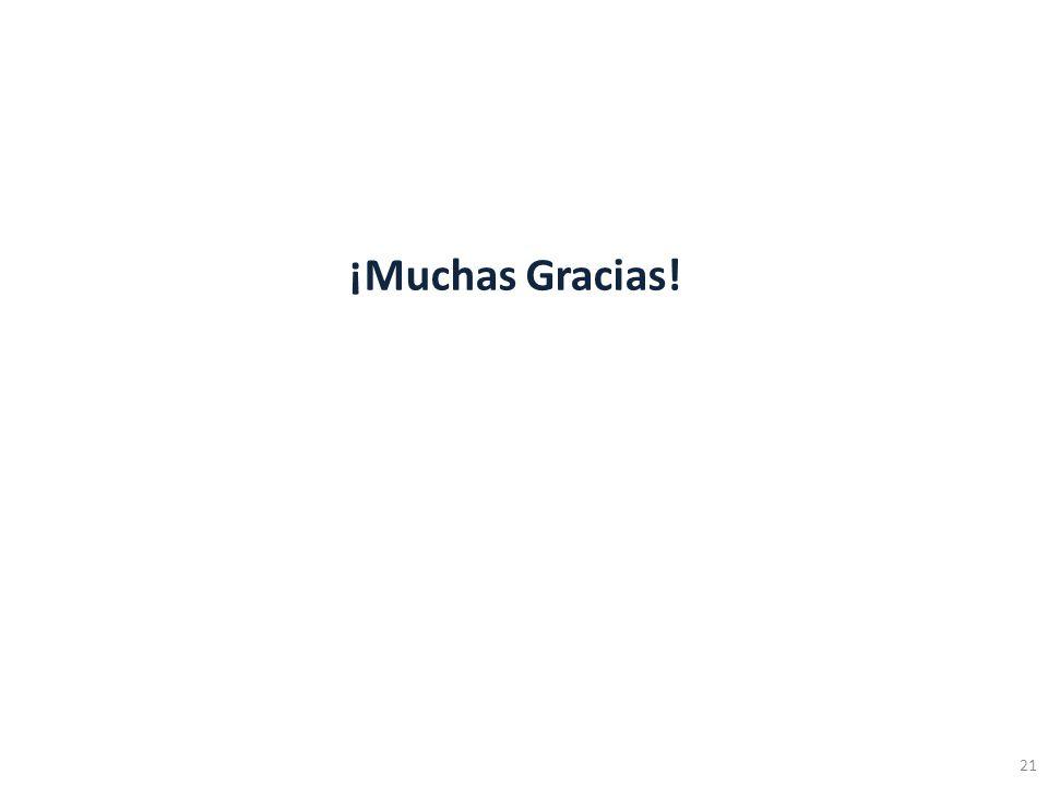 ¡Muchas Gracias! 21