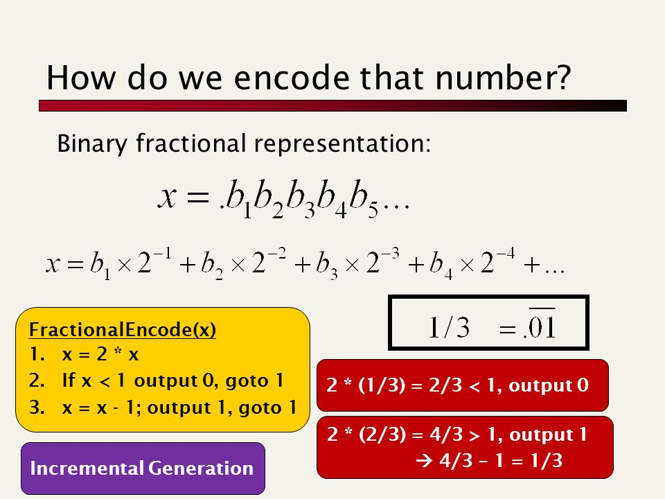 How do we encode that number.