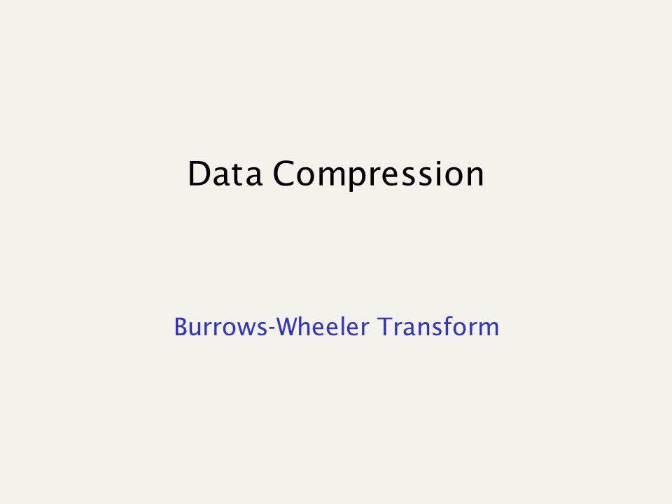 Data Compression Burrows-Wheeler Transform