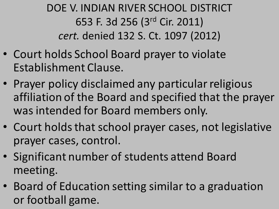 DOE V. INDIAN RIVER SCHOOL DISTRICT 653 F. 3d 256 (3 rd Cir.