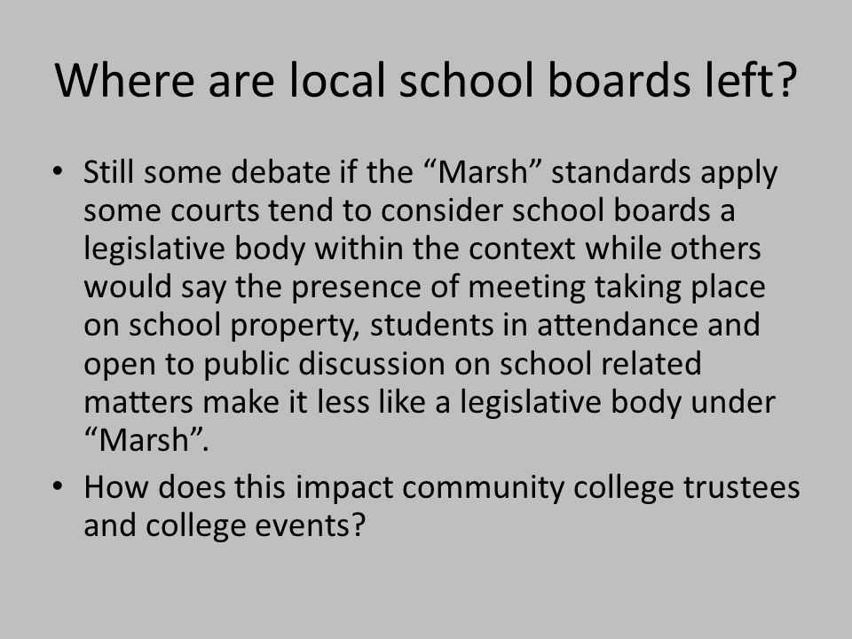 Where are local school boards left.