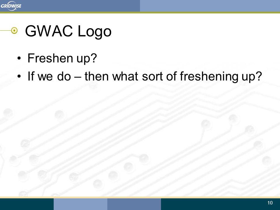 10 GWAC Logo Freshen up? If we do – then what sort of freshening up?