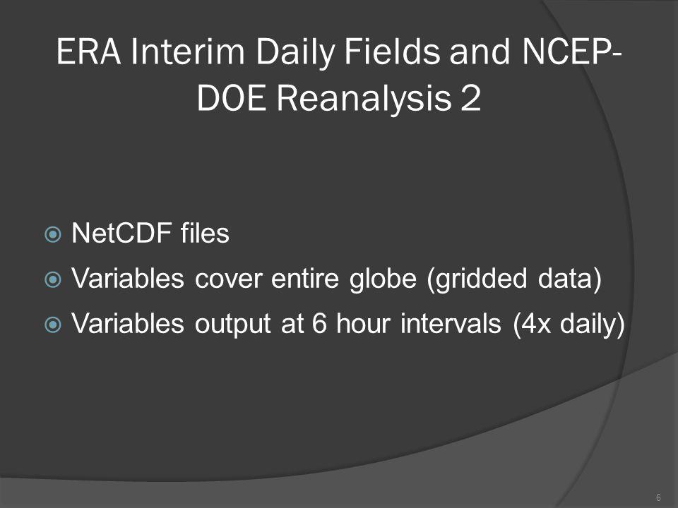 NCEP-DOE R2 and IMB 2012B SSP/Snow Depth Merged 17