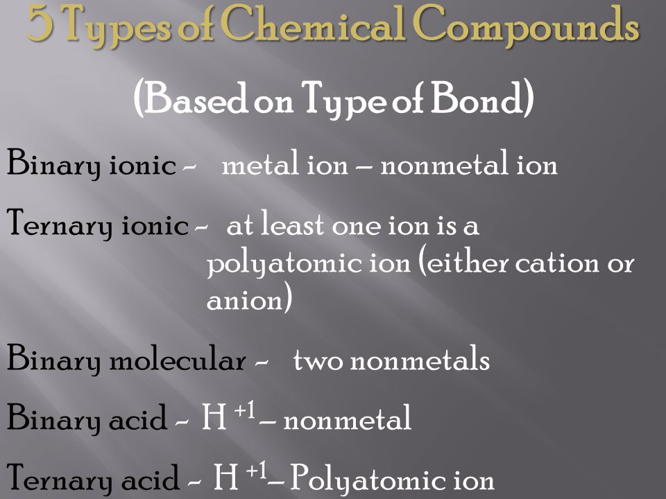 Naming Molecular Compounds using the Stock System This system uses Roman Numerals that indicate the oxidation number of the first nonmetal in the formula.