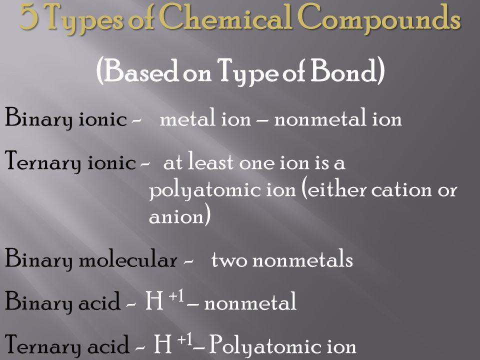 Stock nameCommon Name Copper ICuprous Copper IICupric Iron IIFerrous Iron IIIFerric Lead (II)Plumbous Lead (IV)plumbic Some Examples