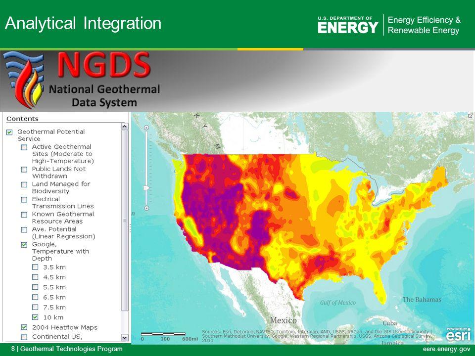 19   Geothermal Technologies Programeere.energy.gov DOE-GDR Survey Responses Intended Data Formats