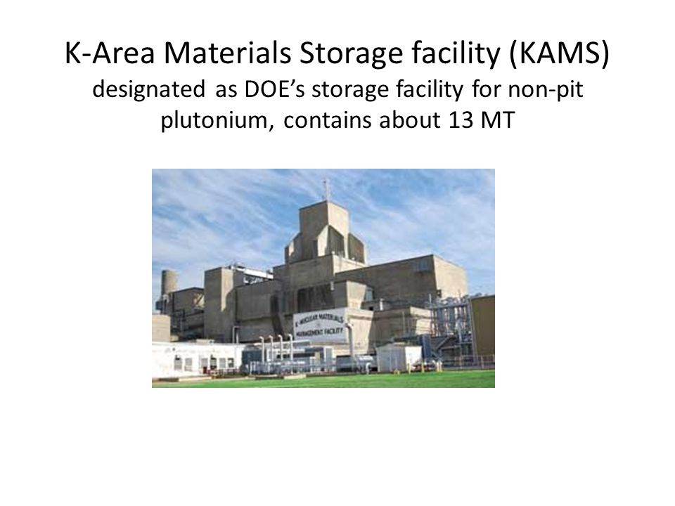 Storage containers in KAMS 9975 shipping and storage container 3013 can, placed inside a 9975
