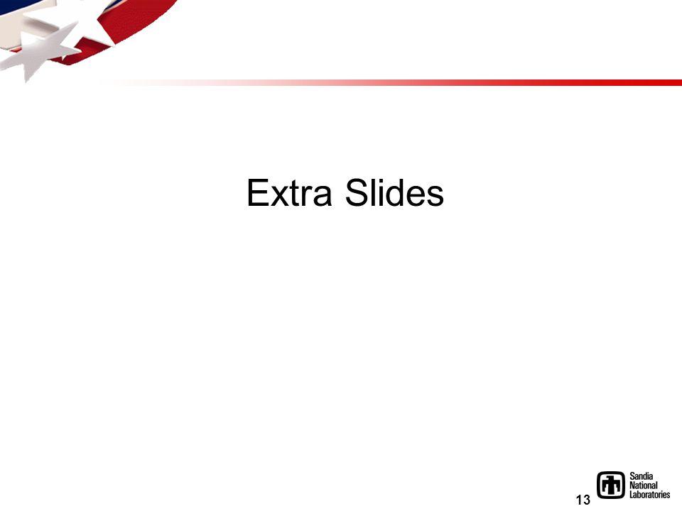 13 Extra Slides